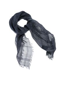 Peserico - Sequined scarf in blue