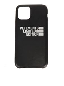 Vetements - Cover iPhone 11 Pro nera con logo