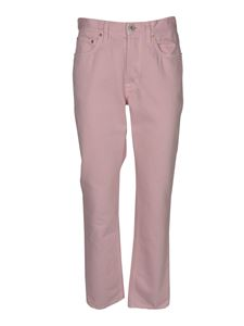 Vetements - Straight leg jeans in Baby Pink color