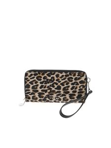 Gum Gianni Chiarini - Animal print wallet in beige and black