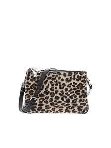 Gum Gianni Chiarini - Animal printed clutch in beige and black