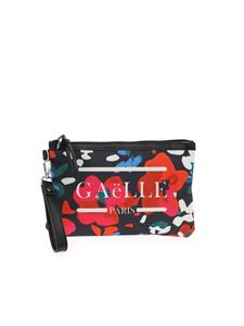 Gaelle Paris - Floral print clutch bag in black