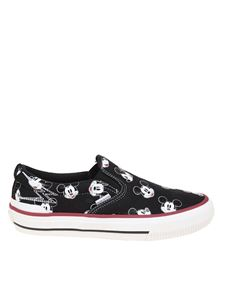 Moaconcept - Mickey Mouse printed slip on in black