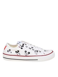 Moaconcept - Mickey Mouse printed sneakers in white