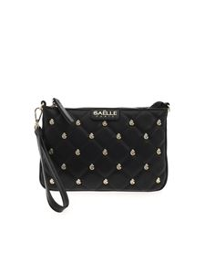 Gaelle Paris - Quilted clutch bag in black