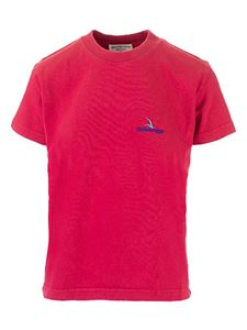 Balenciaga - Embroidered logo T-shirt in red
