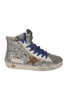 Golden Goose - Glittered Francy Classic sneakers in silver