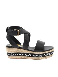 Gaelle Paris - Logo band high espadrilles in black