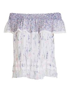 Ermanno Scervino - Liberty patterned viscose blouse in purple