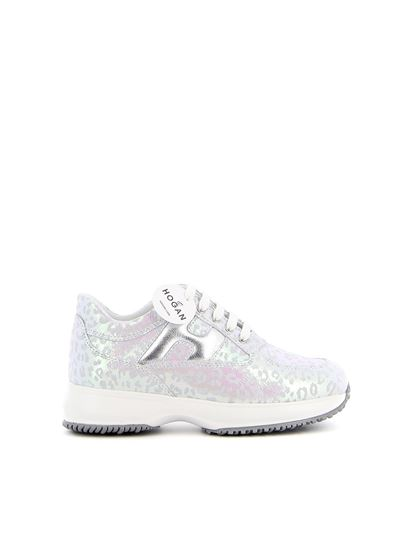Interactive sneakers in white