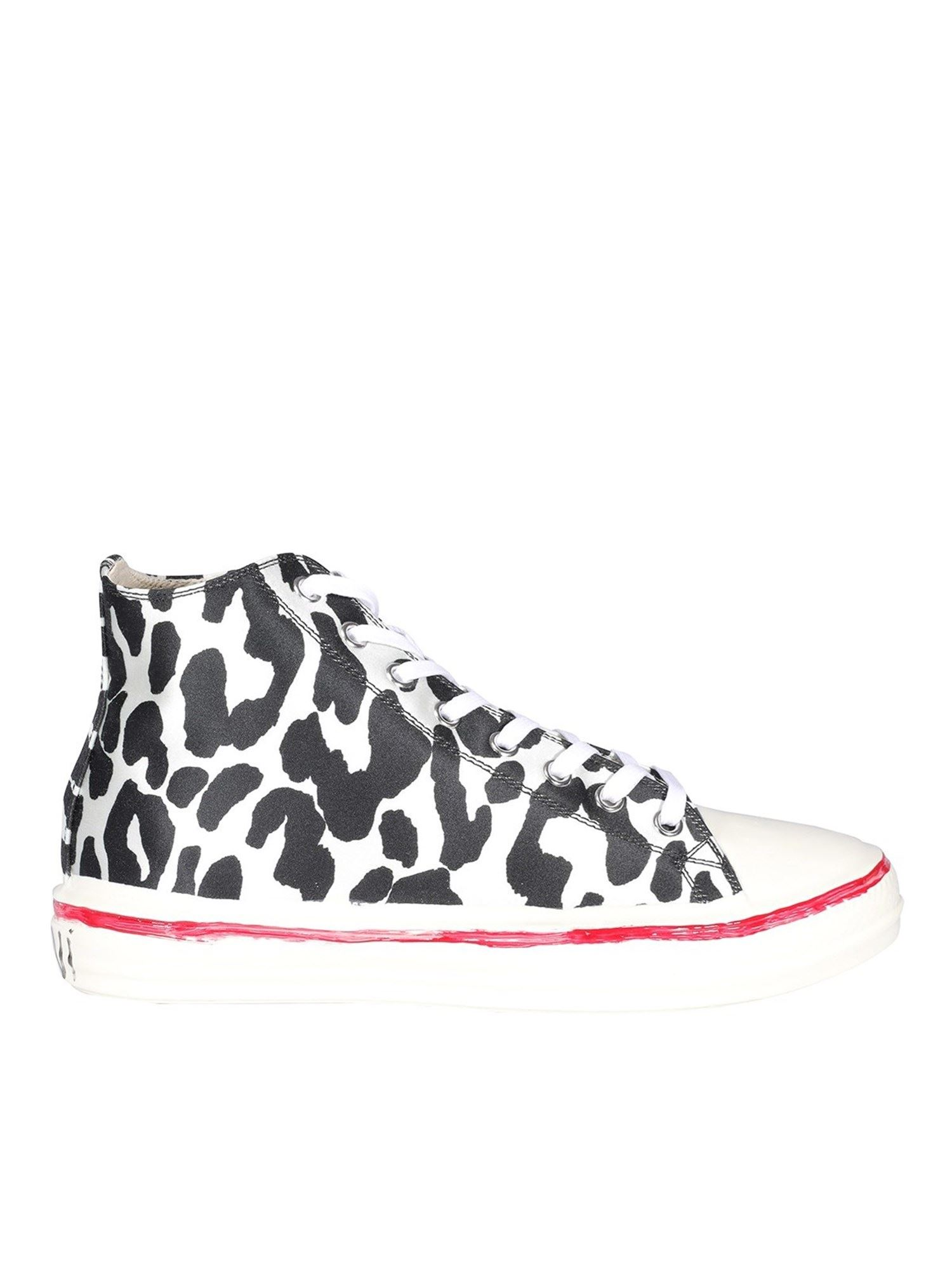 Marni Sneakers GOOEY SNEAKERS IN WHITE AND BLACK