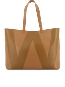 Max Mara Weekend - Grainy leather tote in camel color