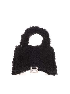 Balenciaga - Fluffy Hourglass Top Handle bag in black