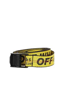 Off-White - Jacquard Industrial belt in yellow