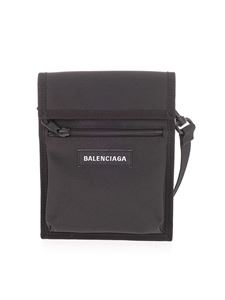 Balenciaga - Explorer crossbody bag in black