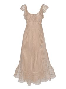Red Valentino - Embroidery point d'esprit dress in powder