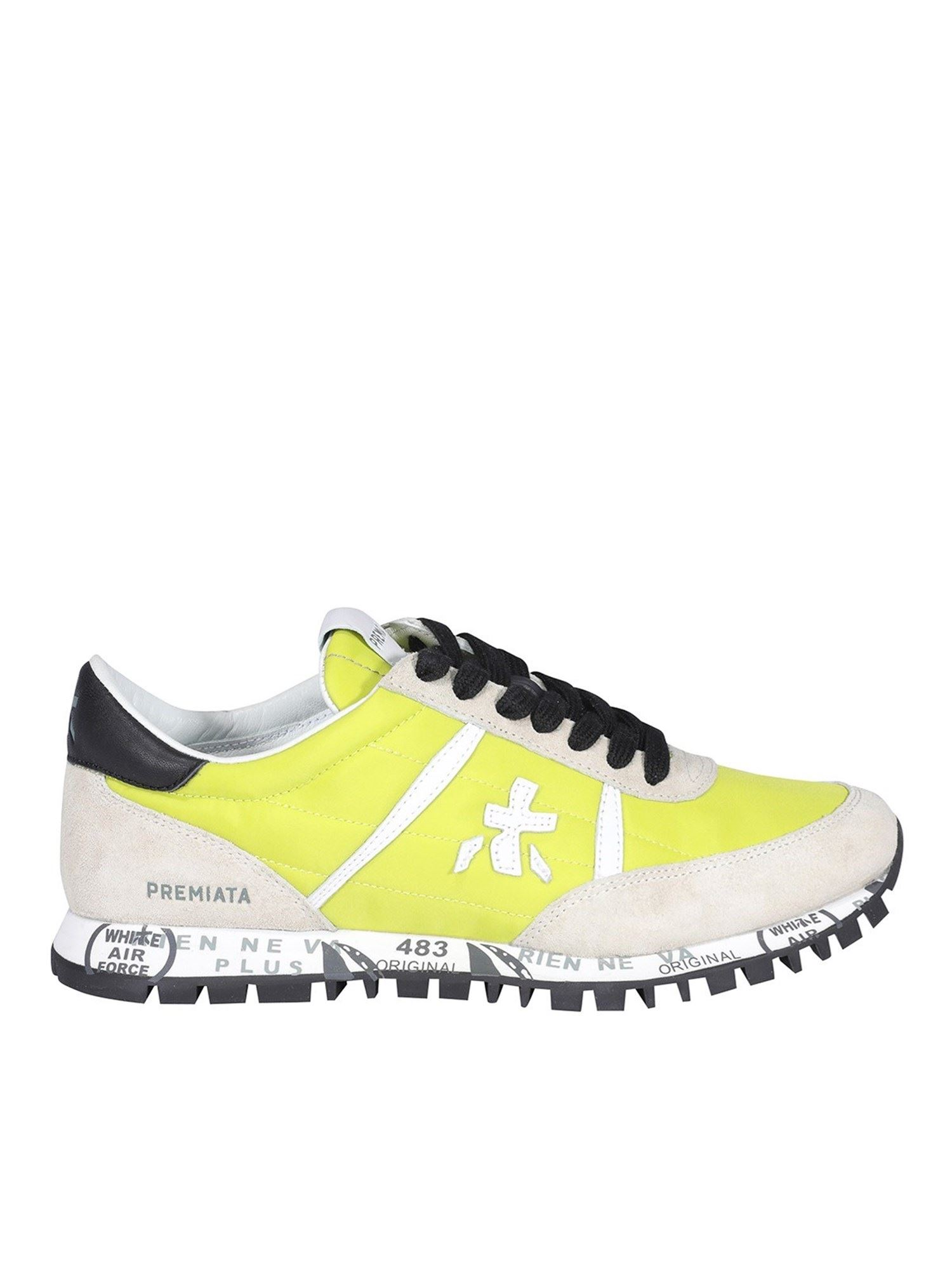 Premiata Leathers SEAND SNEAKERS IN YELLOW