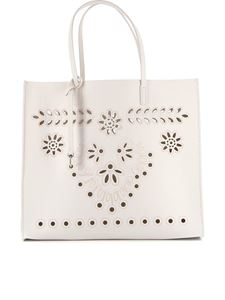 Red Valentino - Cut-out detailed tote in cream color