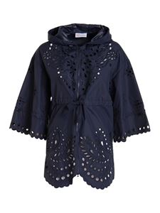Red Valentino - Broderie anglaise jacket in blue