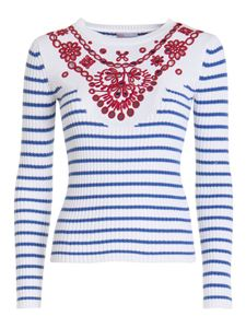 Red Valentino - Broderie anglaise detail jumper in white