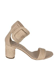 Casadei - Braided sandals in Spiaggia Rosa color