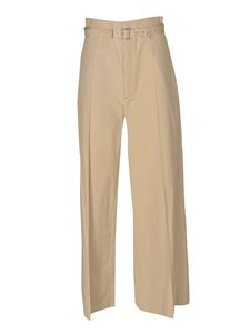 Ambush - High-waisted trousers in Sesame color