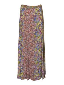 Missoni - Long floral print skirt in yellow