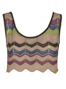 Missoni - Cropped chevron top in beige