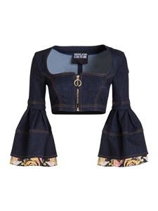 Versace Jeans Couture - Denim cropped top in blue