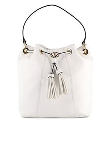 Twin-Set - Faux leather bucket bag in white