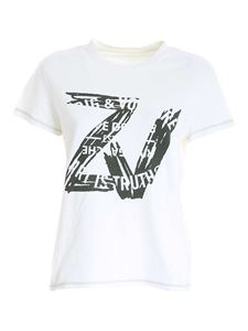 Zadig & Voltaire - Black print T-shirt in white