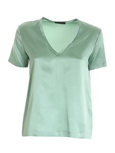 Paolo Fiorillo - Silk T-shirt in green