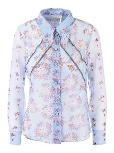 Chloé - Floral shirt in Downy Blue color