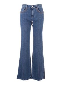 Chloé - Flared jeans in Moonlight Blue color