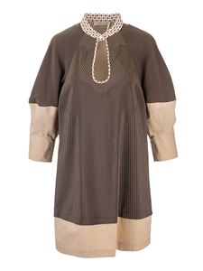 Chloé - Puffed sleeves dress in Grape Leaf color