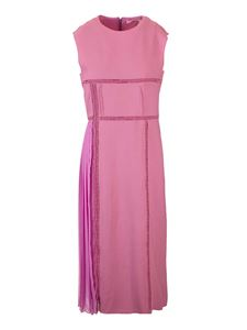 Chloé - Lace inserts dress in Velvety Pink color