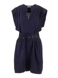 Chloé - Belted dress in Ink Navy color