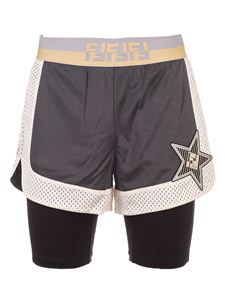 Fendi - Logo sports shorts in grey