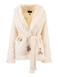 Alanui - Embroidered cardigan in white