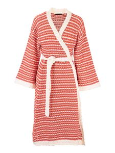 Alanui - Long cardigan in red and white