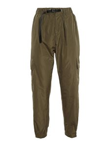 white sand - Technical fabric cargo trousers in green