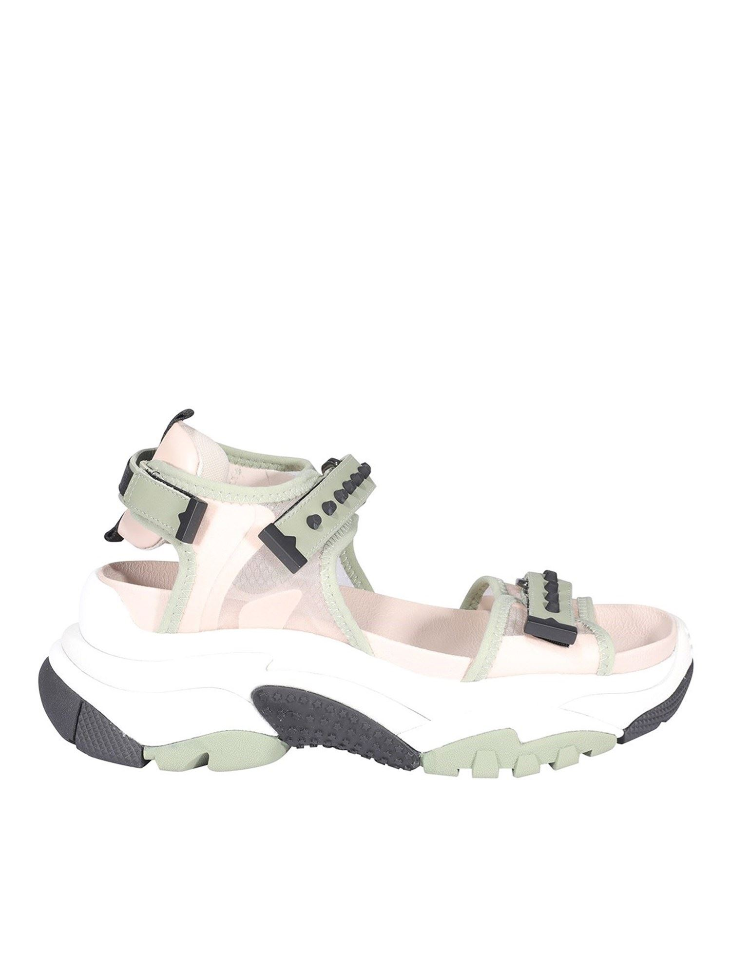 Ash Sandals ACE SANDALS IN GREEN