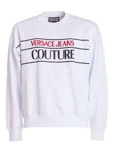 Versace Jeans Couture - Embroidered sweatshirt in white