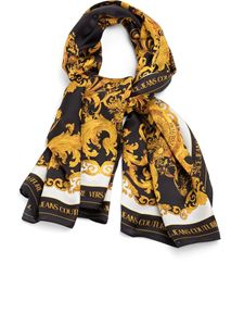 Versace Jeans Couture - Versailles print silk scarf in black