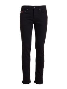 Versace Jeans Couture - Embroidered jeans in black