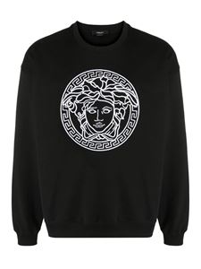 Versace - Medusa embroidery sweater in black