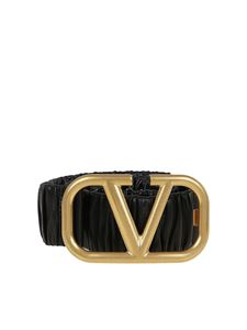 Valentino Garavani - Leather belt in black