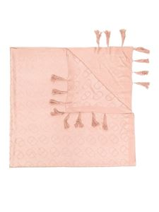 Twin-Set - Viscose scarf with tassels in pink