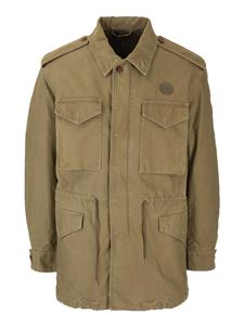 Gucci - Donald Duck Flash cargo jacket in olive green