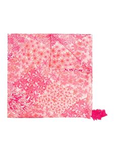 Twin-Set - Foulard rosa con nappine
